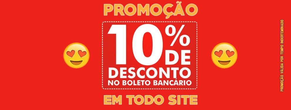 Promoção de 10% de Desconto no boleto