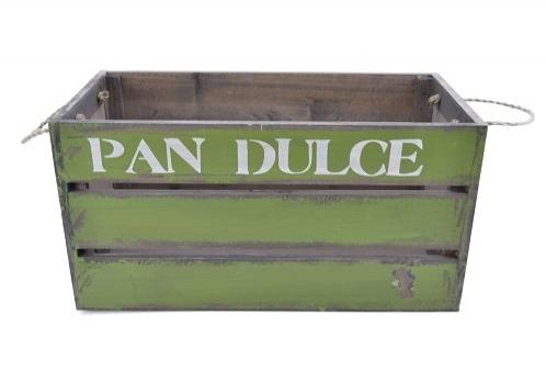 Cachepot Green Pan Dulce em Madeira