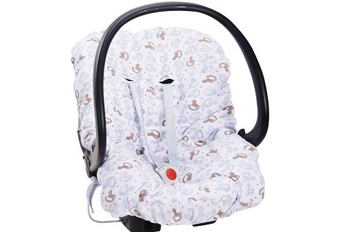 Capa para Bebê Conforto Cavalinho de Balanço Baby Blue Hug Baby