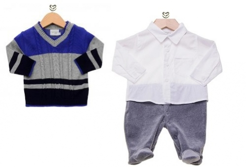 Conjunto Noruega Macacão Camisa com Suéter  b2f00ce9db776