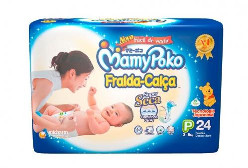 Fralda Descartável Mamypoko Fralda-Calça P 24 unidades
