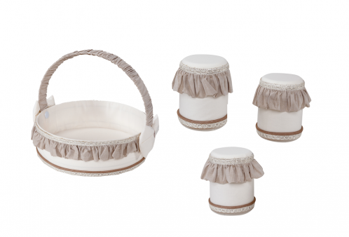 Kit Higiene para Bebê Imperial Marfim 04 Peças