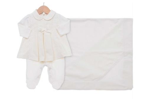 Kit Saída Maternidade Vestido em Suedine e Piquet - Perola a215fb80d2c