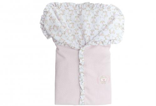Porta Bebê Ovelhinha Algodão Doce Rosa Hug Baby