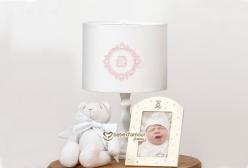Abajur para Quarto de Bebê e Infantil Vineyard Rosa 400 fios