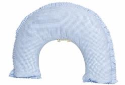 Almofada de Amamentação Cavalinho de Balanço Xadrez Azul
