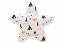 Almofada Estrela Fox Preto