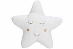 Almofada para Bebê de Estrelinha Branca Completa 01 Peça