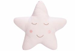 Almofada para Bebê de Estrelinha Rosa Completa 01 Peça