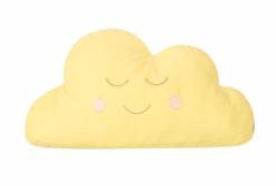 Almofada para Bebê de Nuvem Amarela 01 Peça