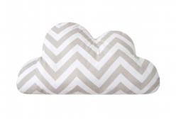 Almofada para Bebê de Nuvem Chevron Cinza 01 Peça