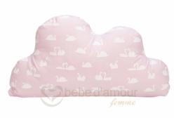 Almofada para Bebê de Nuvem Cisne Rosa