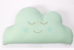 Almofada para Bebê de Nuvem Verde 01 Peça Safari