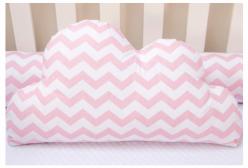 Almofada para Bebê de Nuvem Zig Zag Rosa Chevron 01 Peça