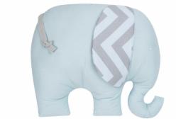Almofada para Bebê Elefante Chevron Azul e Cinza