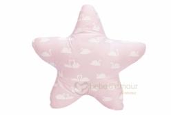 Almofada para Bebê Estrelinha Cisne Rosa