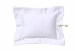 Almofada para Bebê Flor de Lis Royal Branco 300 fios Laura Ashley