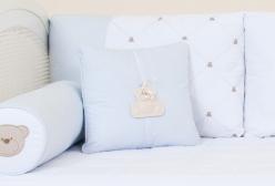 Almofada para Bebê Zíper Theodore Azul