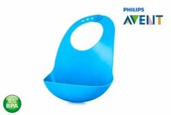 Babador para Bebê em Silicone Azul Philips Avent