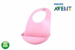 Babador para Bebê em Silicone Rosa Philips Avent