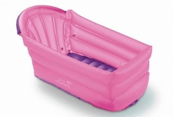 Banheira Inflável para Bebê Bath Buddy Rosa