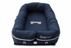Berço Portátil Ninho para Bebê Sleep Um Poá Marinho