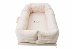 Berço Portátil Ninho para Bebê Sleep Um Xadrez Bege