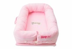Berço Portátil Ninho para Bebê Sleep Um Xadrez Rosa