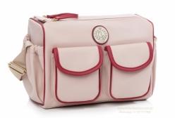 Bolsa Maternidade Frasqueira California Rosa e Bordô Lequiqui