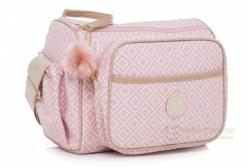 Bolsa Maternidade Frasqueira Estampada Rosa Lequiqui