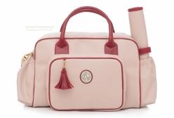 Bolsa Maternidade Grande California Rosa e Bordô Lequiqui