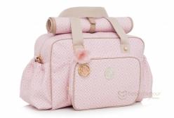 Bolsa Maternidade Grande com Trocador Estampada Rosa Lequiqui