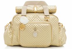 Bolsa Maternidade Grande com Trocador Vienna Ouro Lequiqui
