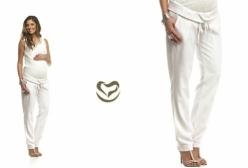 Calça em Linho para Gestante Menina & Meninas - Off White