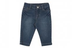 Calça Jeans para Bebê TipTop Menina 6 a 12 meses - Azul Marinho