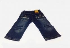 Calça Jeans para Bebê TipTop Menino 6 a 12 meses - Azul Marinho