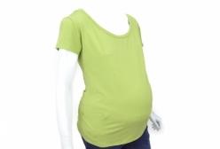 Camiseta Gestante Básica Verde Menina & Meninas - Verde