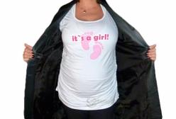 Camiseta Gestante It's a Girl Menina & Meninas