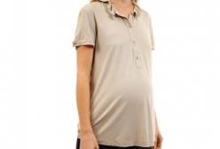 Camiseta Polo Gestante Fru Fru Zazou - Nude