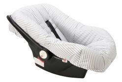 Capa para Bebê Conforto Ajustável Enxoval Listrado Cinza