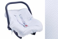 Capa para Bebê Conforto Chevron Azul Petit Avion Hug
