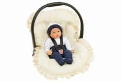Capa para Bebê Conforto em Percal Marfim