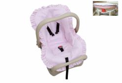 Capa para Bebê Conforto em Percal Rosa de Algodão