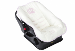 Capa para Bebê Conforto Realeza Rosa
