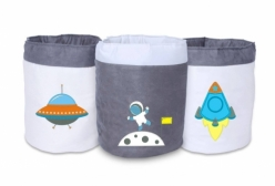 Cestos Multiuso Astronauta Bebê Infantil 3 peças