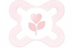 Chupeta MAM Baby Start 0 For Girls - MAM - Rosa Claro e Branco