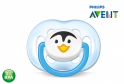 Chupeta Philips Avent Ortodôntica Pinguim Freeflow 6-18m