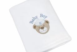 Cobertor de Bebê em Soft Ursinho Marinheiro Navy Azul