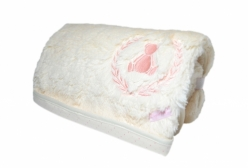 Cobertor para Bebê em Pelo Antialérgico Forrado Bristol Rosé