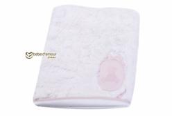 Cobertor para Bebê em Pelo Antialérgico Luxo Personalizado Candy Rosa